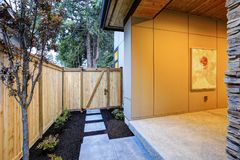 Backyard view of new construction home in Bellevue, WA Royalty Free Stock Photo
