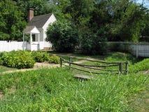 Backyard in Williamsburg Virginia royalty free stock images