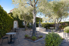 Backyard of a winery with nice terrace Stock Photos