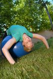 Backyard workout stock images