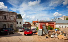 Backyards in the Ivanovo city Royalty Free Stock Photos