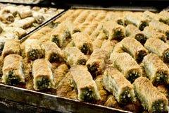 Baclavale, Market, Jerusalem, Israel. Spices, baclavaale, cakes, sweets, fruits, vegetables on display in Israeli Market, Jerusalem, Israel Royalty Free Stock Image