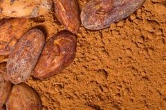 Baclground de cacao Image libre de droits