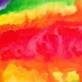 Baclground disegnato a mano dell'acquerello dell'arcobaleno Fotografie Stock Libere da Diritti