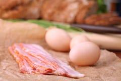 baconägg Fotografering för Bildbyråer