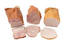 Bacon. Isolated on white background Stock Photos