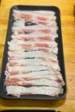 Bacon affettato crudo immagine stock libera da diritti