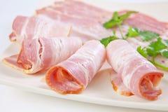 Bacon affettato saporito fotografie stock