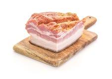 Bacon affumicato a bordo Fotografia Stock Libera da Diritti