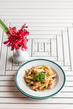Bacon Aglio olio pasta Royalty Free Stock Images