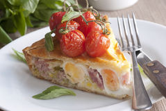Bacon And Egg Pie Royalty Free Stock Photos