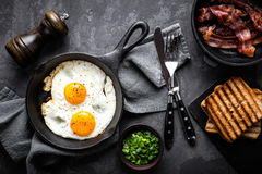 Free Bacon And Eggs Royalty Free Stock Photos - 85121648