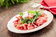 Bacon Arugula Salad Stock Photo