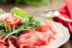 Bacon Arugula Salad Royalty Free Stock Photography