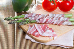 Bacon and asparagus Royalty Free Stock Images
