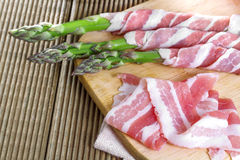 Bacon and asparagus Stock Photography