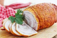 Bacon assado com pimenta Fotografia de Stock