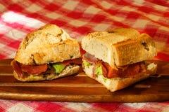 Bacon and avocado sandwich Royalty Free Stock Photos