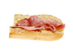 Bacon baguette Stock Photo