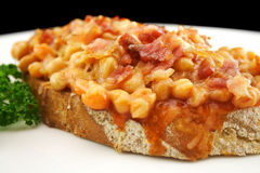Bacon And Baked Beans Royalty Free Stock Photography