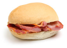 Bacon Bap or Roll Royalty Free Stock Photography