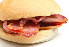 Bacon Bap or Roll Sandwich Royalty Free Stock Images