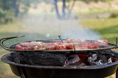 Bacon being grilled Stock Photography
