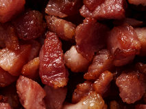 Bacon bits. Close up of bacon bits food background Royalty Free Stock Images