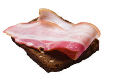 Bacon with bread Stock Image