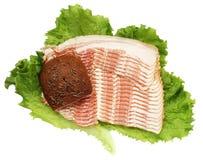 Bacon and bread Royalty Free Stock Photos