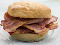 Bacon Bread Roll Royalty Free Stock Images