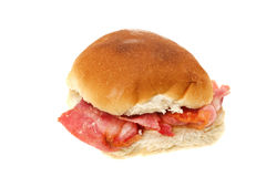 Bacon bread roll sandwich Stock Photography
