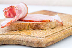 Bacon and Bread Royalty Free Stock Photo