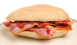 Bacon Breakfast Roll Stock Images