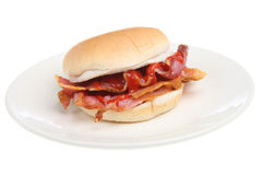 Bacon Breakfast Roll Stock Photos