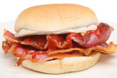 Bacon Breakfast Roll Stock Photo