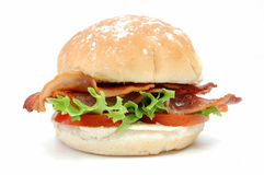 Bacon burger Royalty Free Stock Photos