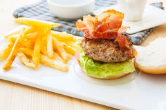Bacon Burger Stock Images