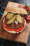 Bacon burger sandwich Stock Image
