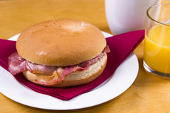 Bacon Butty Fotografia de Stock