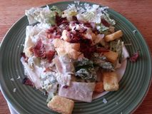 Bacon Caesar Salad Royaltyfria Bilder