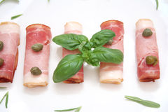 Bacon and capers Stock Photos