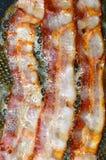 Bacon che frigge in una pentola Fotografie Stock Libere da Diritti