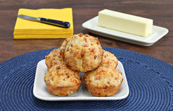 Bacon, cheddar biscuits Royalty Free Stock Image