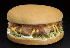 Bacon cheese burger Royalty Free Stock Image