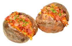 Bacon And Cheese Filled Baked Potato Stock Image