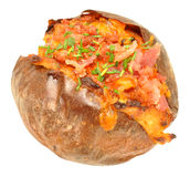 Bacon And Cheese Filled Baked Potato Royalty Free Stock Photos