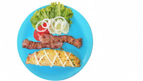 Bacon and Cheese Omelet Stock Images
