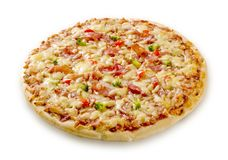 Bacon and cheese pizza Royalty Free Stock Images