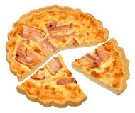 Bacon And Cheese Quiche Royalty Free Stock Photography